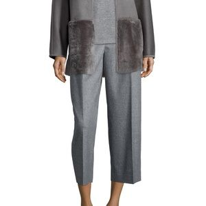 NWT Lafayette 148 Cropped Cashmere Blend Pant, 22